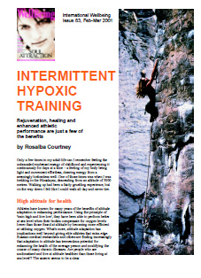 Intermittent Hypoxic Training - article by Rosalba Courtney